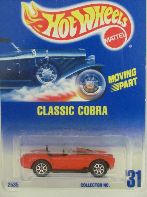 HOT WHEELS 1991 BLUE CARD CLASSIC COBRA 7SPK #31 RED