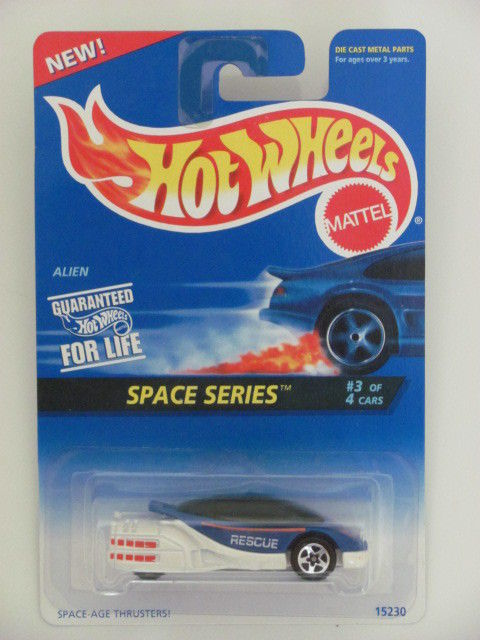 HOT WHEELS 1995 SPACE SERIES ALIEN COLL. #390 WHITE