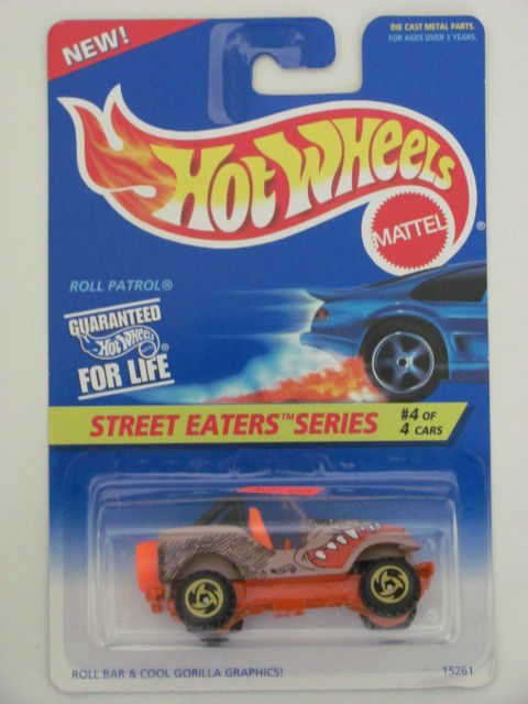HOT WHEELS 1995 STREET EATERS SERIES ROLL PATROL SAWBLADE