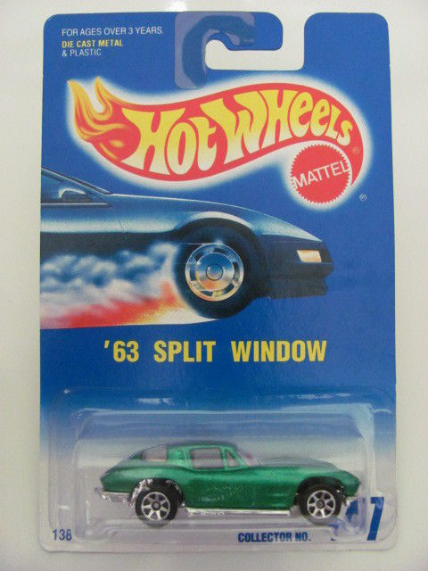 HOT WHEELS 1991 CORVETTE SPLIT - WINDOW #447 W/ 7 SPK