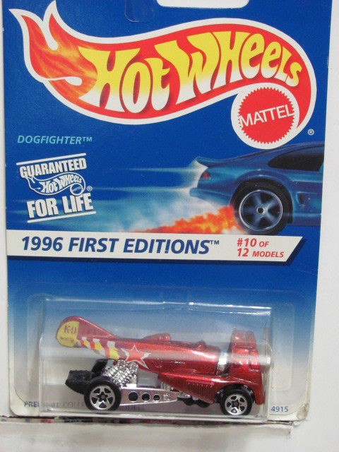 HOT WHEELS 1996 FIRST EDITIONS DOGFIGHTER RED W/ 5 SPK