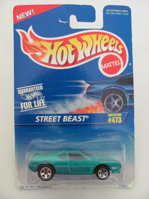 HOT WHEELS 1996 COLL. #473 STREET BEAST BLUE MIB