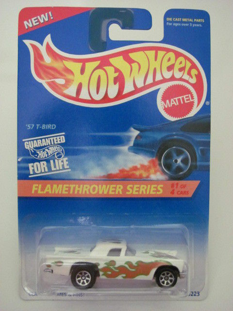 HOT WHEELS 1995 FLAMETHROWER SERIES '57 T-BIRD W/ 7SP