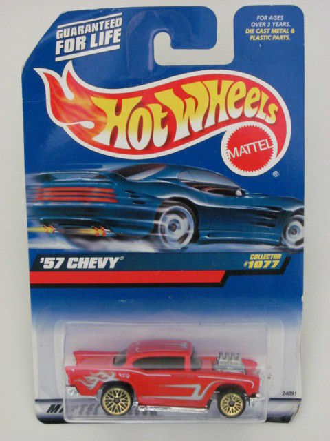 HOT WHEELS 1999 '57 CHEVY COLLECT. #1077 RED