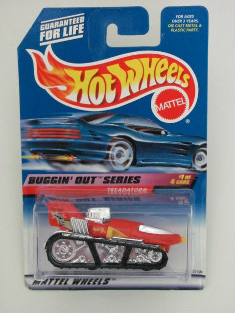 HOT WHEELS 1999 BUGGIN' OUT SERIES TREADATOR #941 RED