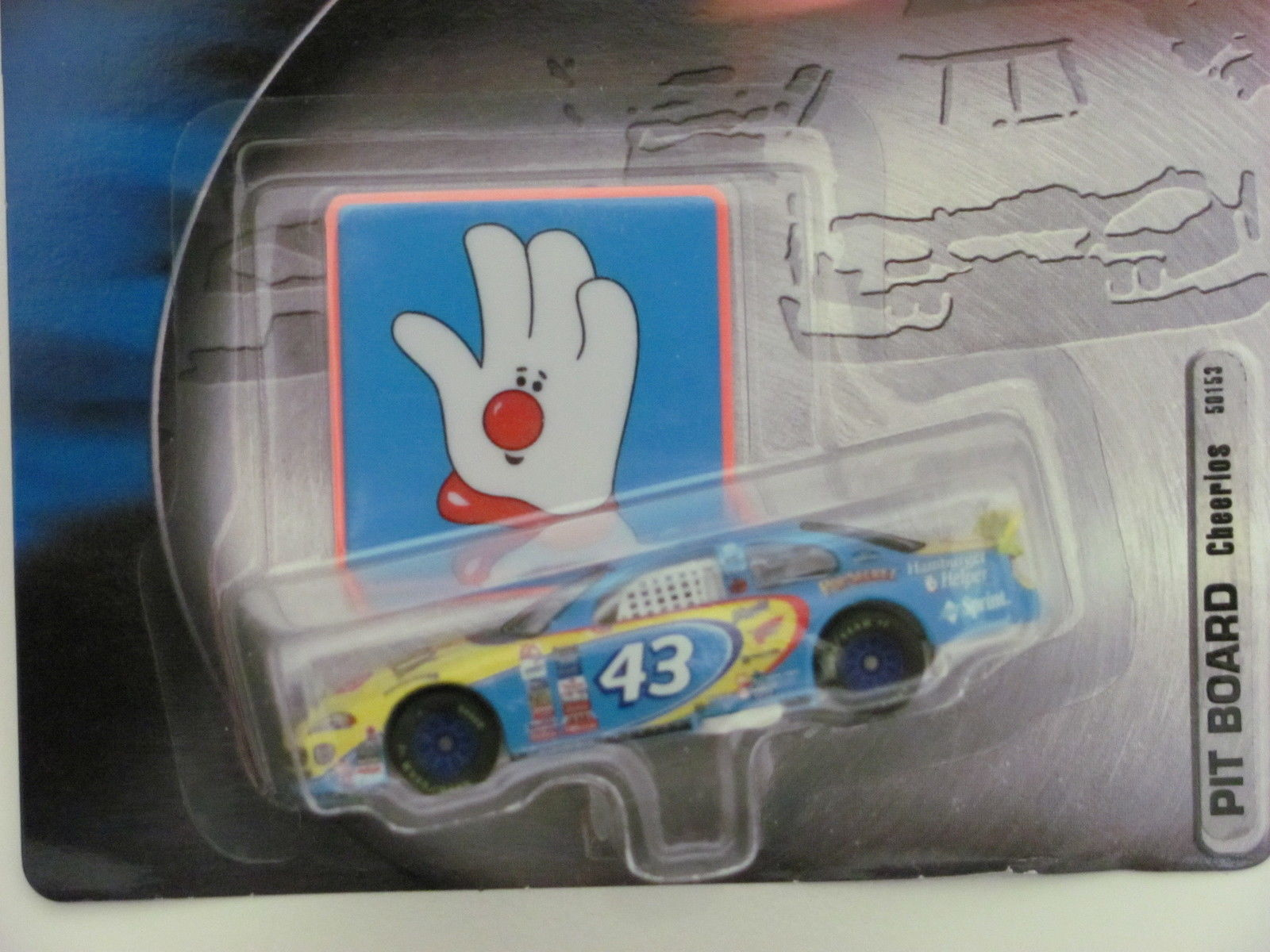2001 NASCAR HOT WHEELS RACING PIT BOARD CHEERIOS BLUE