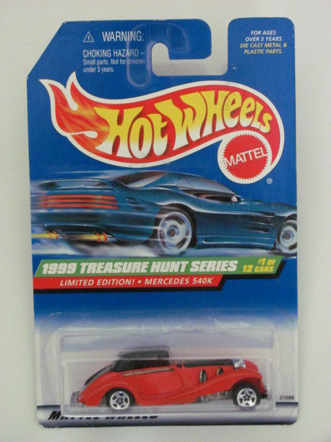 HOT WHEELS 1999 TREASURE HUNT SERIES LIMITED EDITION . MERCEDES 540K RED
