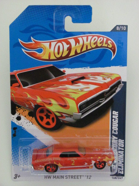 HOT WHEELS 2012 HW MAIN STREET `12 '69 MERCURY COUGAR ELIMINATOR