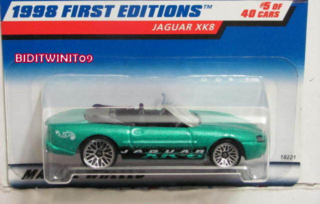 HOT WHEELS 1998 JAGUAR XK8 #5/48 FIRST EDITIONS #639