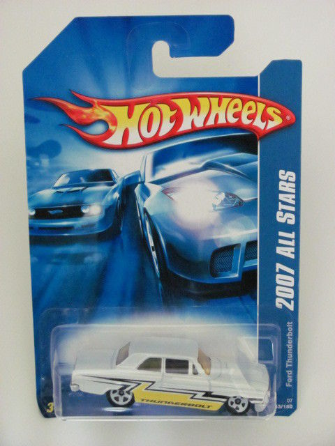 HOT WHEELS 2007 ALL STARS FORD THUNDERBOLT WHITE