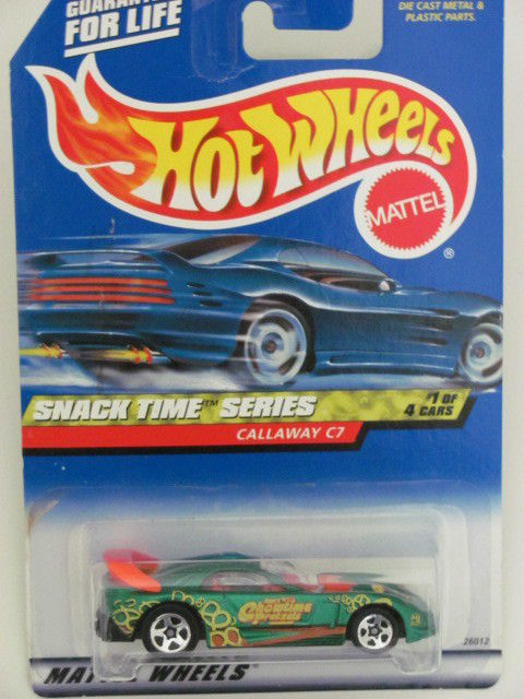 HOT WHEELS 2000 SNACK TIME SERIES CALLAWAY C7 #013 GREEN