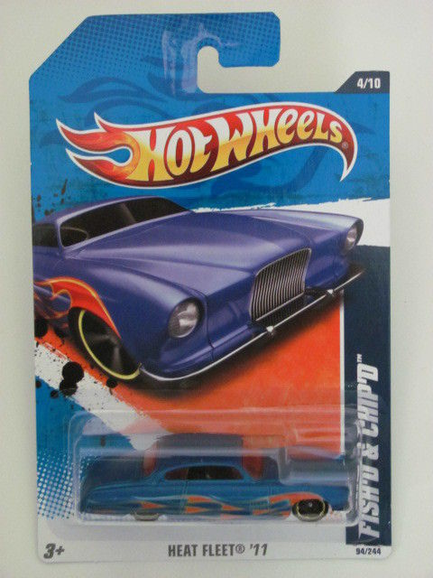 HOT WHEELS 2011 HEAT FLEET #4/10 FISH'D & CHIP'D