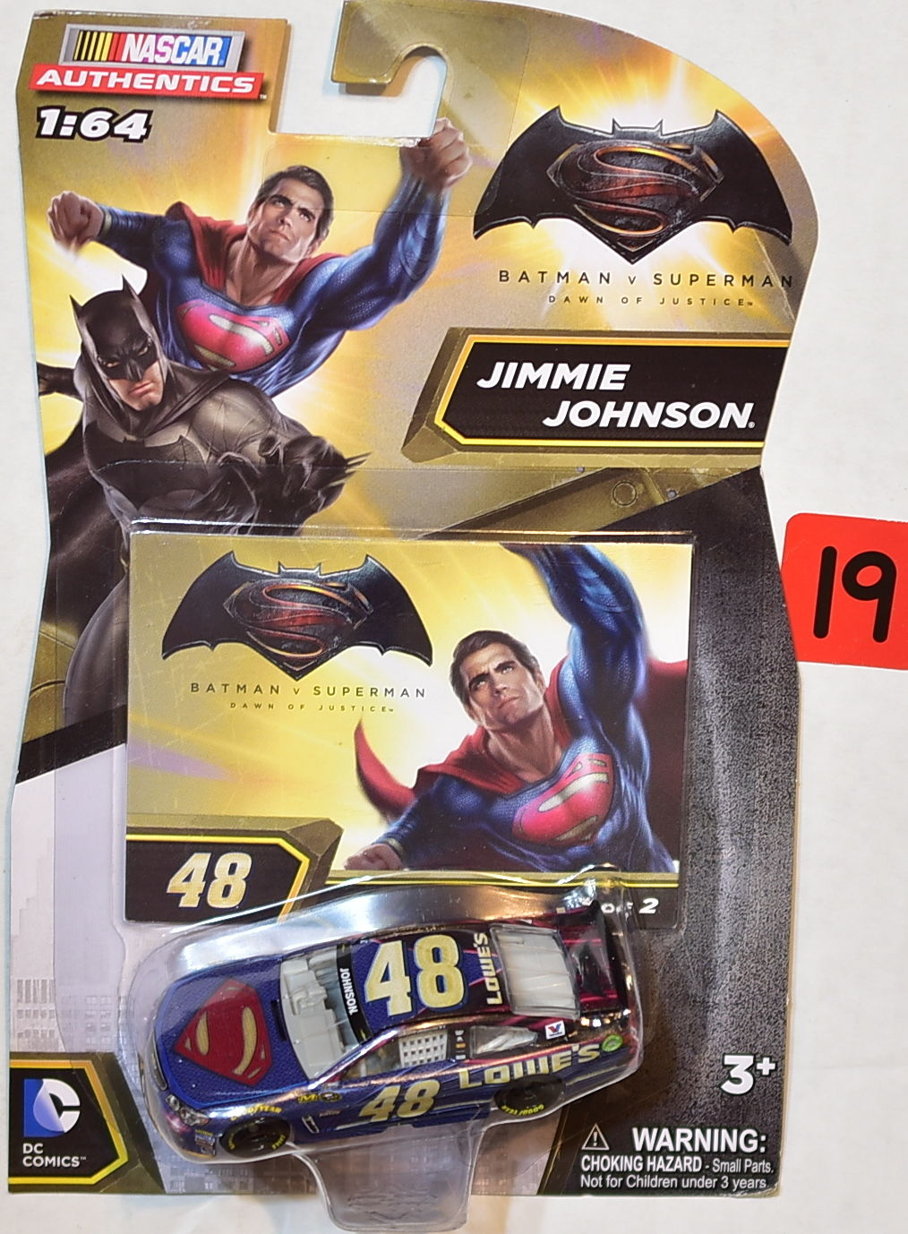 NASCAR AUTHENTICS 1:64 DC COMICS BATMAN V SUPERMAN JIMMIE JOHNSON