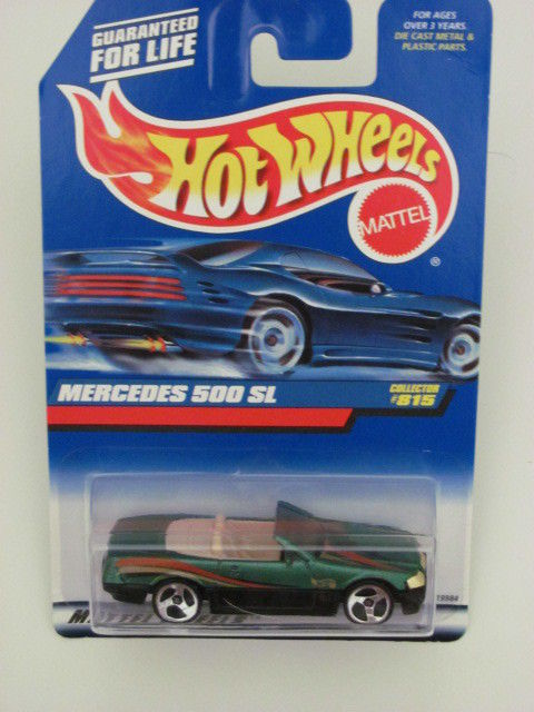 HOT WHEELS 1998 MERCEDES 500 SL #815 GREEN