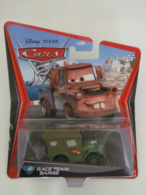 DISNEY PIXAR CARS 2 #15 RACE TEAM SARGE MATTER CARD ERROR