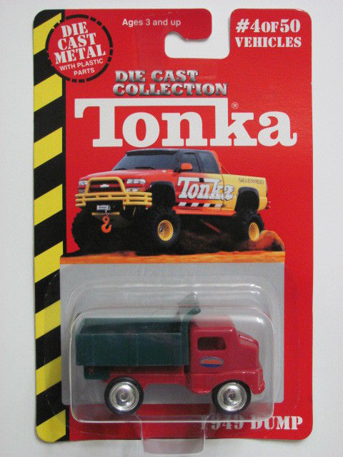 MAISTO TONKA #04 OF 50 DIE CAST METAL 1949 DUMP TRUCK GREEN/RED