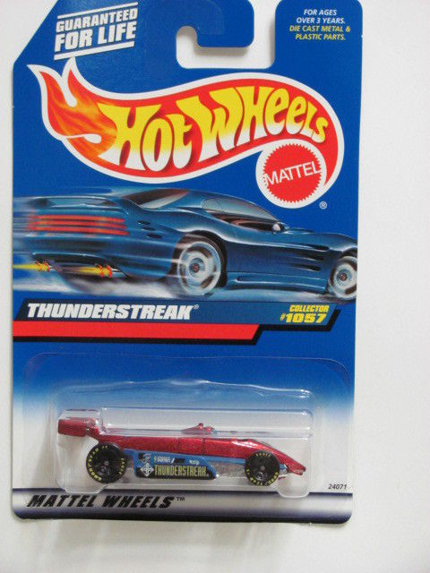 HOT WHEELS 1999 #1057 THUNDERSTREAK RED & BLUE