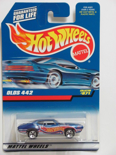 HOT WHEELS 1998 OLDS 442 #871 BLUE