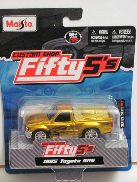 MAISTO CUSTOM SHOP FIFTY5' 1985 TOYOTA SR5 YELLOW E+