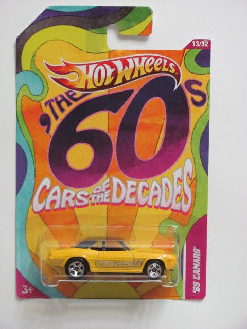 HOT WHEELS 2011 THE 60s CARS OF THE DECADES '69 CAMARO YELLOW