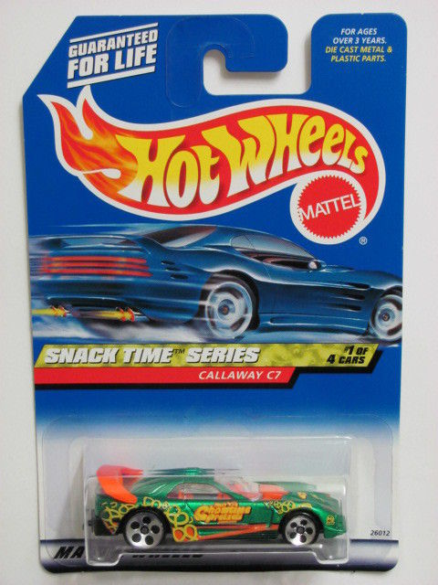 HOT WHEELS 2000 SNACK TIME SERIES CALLAWAY C7 #013 5 HOLE