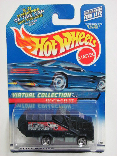 HOT WHEELS 2000 VIRTUAL COLLECTION CARS RECYCLING TRUCK #143