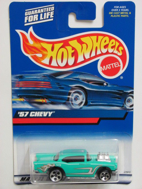 HOT WHEELS 2000 '57 CHEVY COLLECT. #105 BLUE