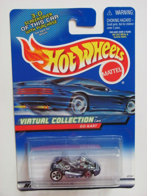 HOT WHEELS 2000 VIRTUAL COLLECTION GO KART #151 PURPLE