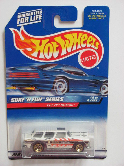 HOT WHEELS 1999 SUR'N FUN SERIES CHEVY NOMAD #964 WHITE