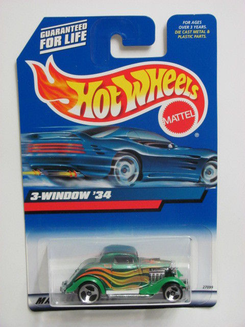 HOT WHEELS 2000 3- WINDOW '34 COLLECT. #132 GREEN