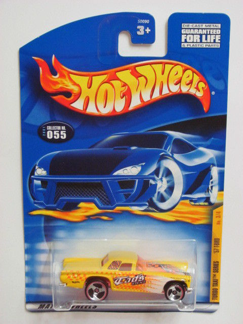 HOT WHEELS 2001 TURBO TAXI SERIES '57 T-BIRD YELLOW