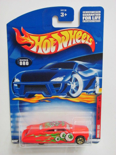 HOT WHEELS 2001 MONSTERS SERIES PURPLE PASSION #080 RED