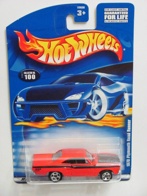 HOT WHEELS 2001 COLLECT. #100 RED 1970 PLYMOUTH ROAD RUNNER
