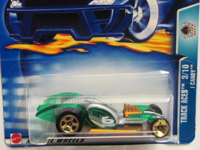 HOT WHEELS 2003 TRACK ACES 3/10 I CANDY #146 GREEN