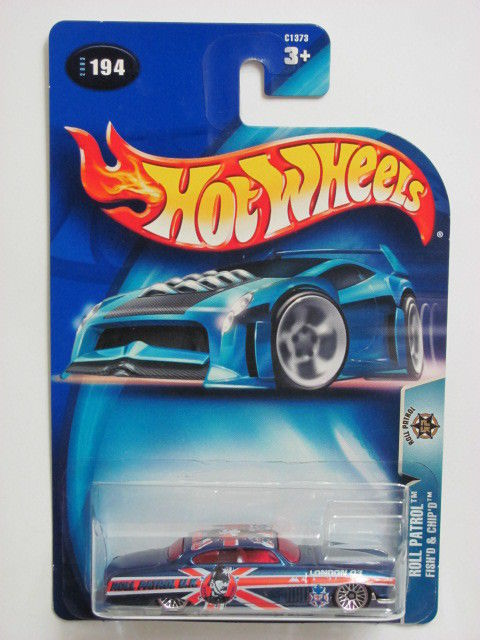 HOT WHEELS 2003 ROLL PATROL FISH'D & CHIP'D COLLECT. #194 BLUE