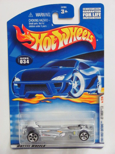 HOT WHEELS 2001 FIRST EDITIONS JET THREAT 3.0 #034 SILVER