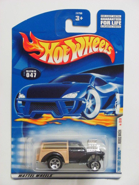 HOT WHEELS 2001 FIRST EDITIONS MORRIS WAGON #047 BLACK