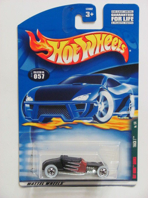 HOT WHEELS 2001 RAT RODS SERIES TRACK T #057 BLACK MIB