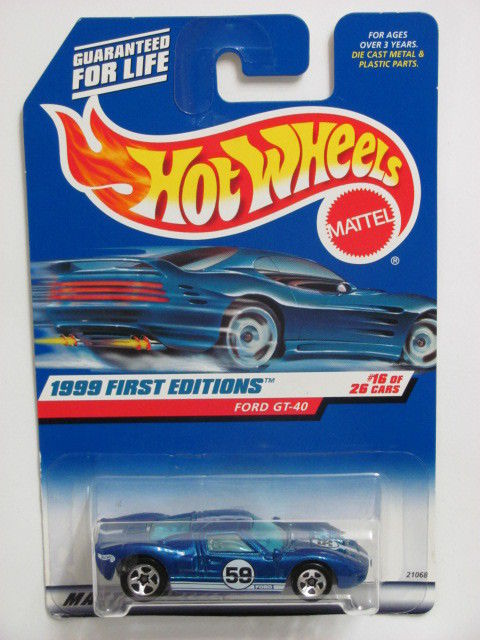 HOT WHEELS 1999 FIRST EDITIONS #921 FORD GT - 40 BLUE