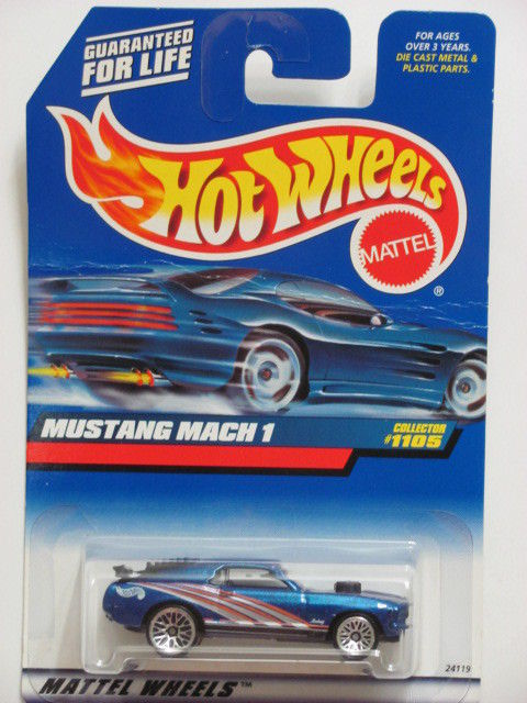 HOT WHEELS 1999 MUSTANG MACH 1 COLLECT. #1105 BLUE