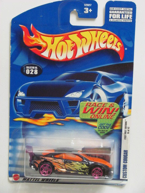 HOT WHEELS 2002 FIRST EDITIONS CUSTOM COUGAR #028 BLACK