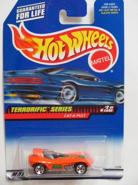 HOT WHEELS 1999 TERRORIFIC SERIES CAT-A-PULT #978 ORANGE