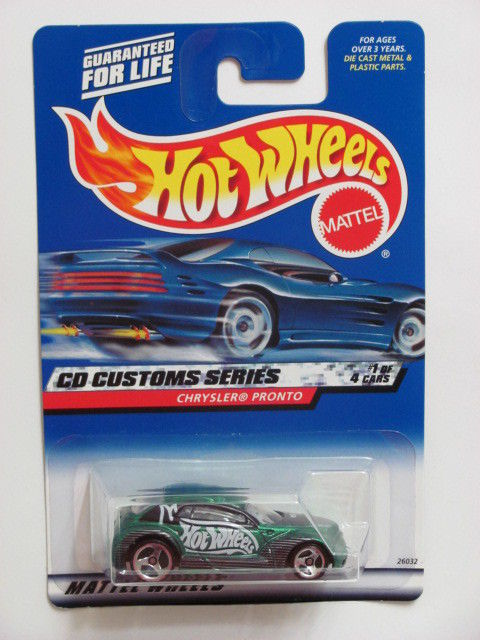 HOT WHEELS 2000 CD CUSTOMS SERIES CHRYSLER PRONTO COLLECT. #029