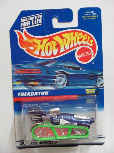 HOT WHEELS 1998 TREADATOR #851 GREEN