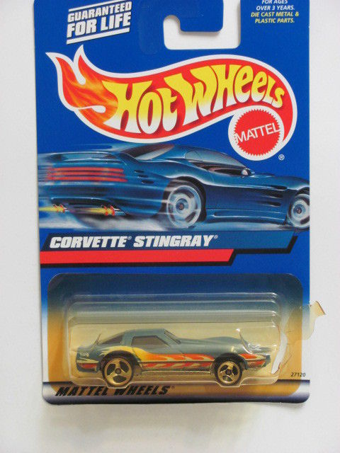 HOT WHEELS 2000 CORVETTE STINGRAY #154 BLUE W/ 3 SP