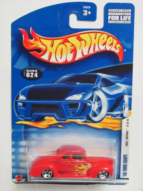 HOT WHEELS 2002 FIRST EDITIONS '40 FORD COUPE #024 RED