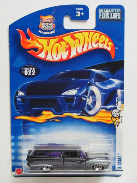 HOT WHEELS 2003 #022 8 CRATE BLACK