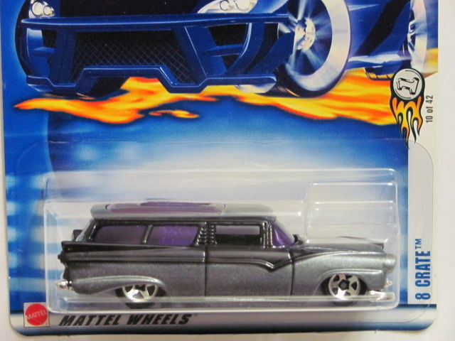 HOT WHEELS 2003 #022 8 CRATE BLACK - Click Image to Close