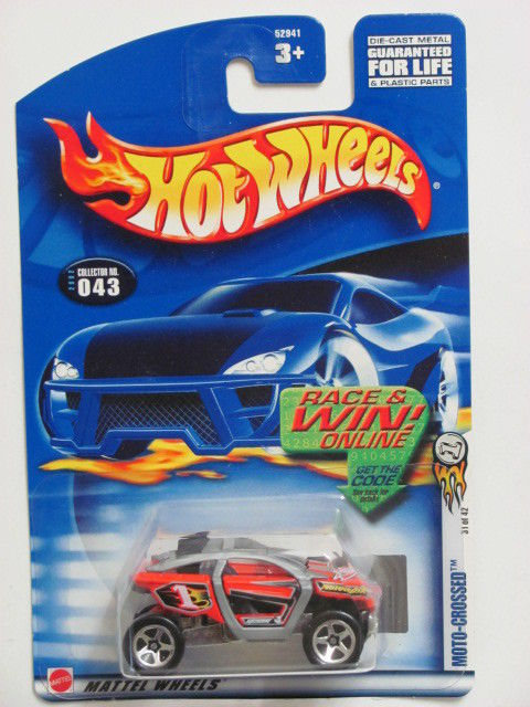 HOT WHEELS 2002 MOTO-CROSSED #043 RED