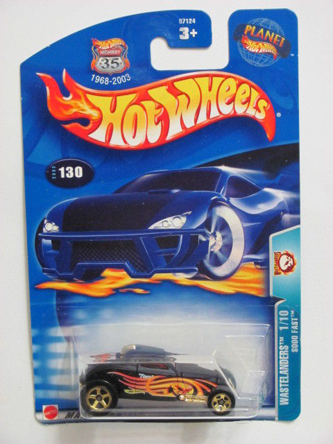 HOT WHEELS 2003 WASTELANDERS SOOO FAST BLACK #130